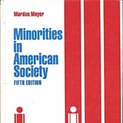 Minorities in American Society * Textbook 1978