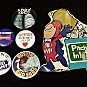 Beer * Budweiser * Bud* Bud Light Pin Back Buttons