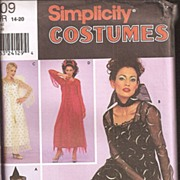 Simplicity Costume Pattern  Ladies Sizes 14 - 20 # 9309