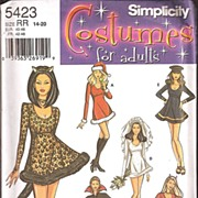 Simplicity  Costume Pattern -Ladies Sizes 14 - 20 #5423