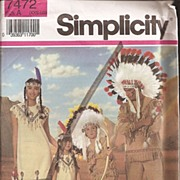 Simplicity Pattern * Native American Costumes