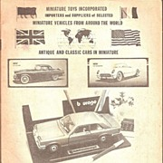 Catalog~ Miniature Toys * 1978