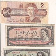 Canada - Currency 1954 & 1986