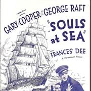 "Gary Cooper  ""Souls at Sea"" Movie Flyer * 1937"