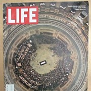 Life Magazine *Dwight Eisenhower Funeral * Capital Rotunda * April 11, 1969