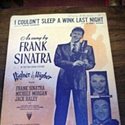 Frank Sinatra Sheet Music * I Couldn't Sleep a Wink Last Night