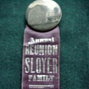 Sloyer Family Annual Reunion Pin Back & Ribbon
