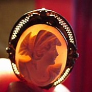 Antique Cameo in 10K Gold Setting