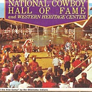 Cowboy Hall of Fame Postcard Folder * Oklahoma City. OK