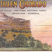 Southern Colorado Postcard Folder * c.1940's