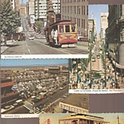 San Francisco Color Postcards  * 4