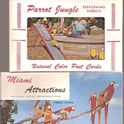 Parrot Jungle Color Postcard Folders * Miami, Florida