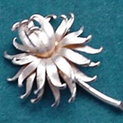 Lovely Brushed Goldtone Flower Pin