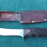 Schrade # 147 Knife in Sheath