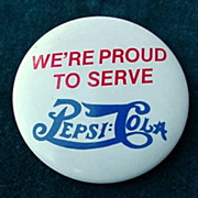 Pepsi : Cola Pinback Button
