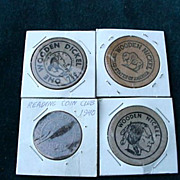 Coin Club Wooden Nickles, Etc. 19140 - 1982