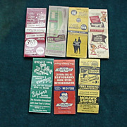 Newark, N.J. Advertising Matchbook Covers