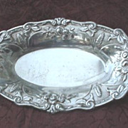 Ornate Silver Plated Bread Tray