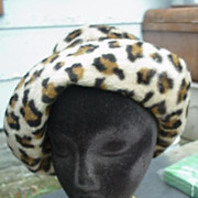 Mr. John Jr. Leopard Print Faux Fur Hat - To Die For!