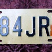 New Jersey Motorcycle License Plate - 1980