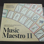 Music Maestro ll Board Game ~ 1982 * 1988