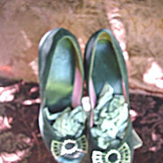 1950's Peek-A -Boo Toe Ladies Pumps * Size 3