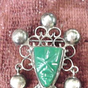 Vintage Mexico Sterling Pin Inca Head