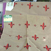 Fleur de Lis Bucilla Needlepoint Seat Covers to Finish