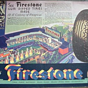 1933 / 1934 Century of Progress Ad * Firestone Tires