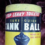 Sure Guide Tank Ball Tin c. Early 1950's