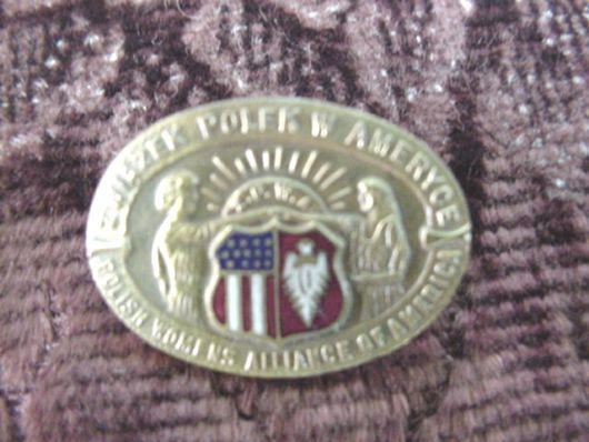 Polish Woman's Alliance Pin c. WW1 * WW11