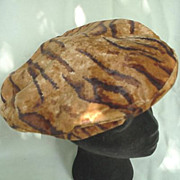 Vintage Tiger Print Ladies Hat