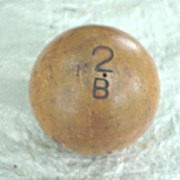 Unusual Wooden Ball * Pat. 1881