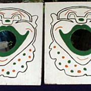 Carnival Folk Art Clown Bean Bag Toss Boards (2)