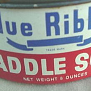 Blue Ribbon Saddle Soap Tin c.1950's