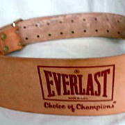Everlast Leather Weight Belt * Made in U. S. A.