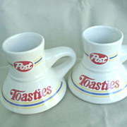 Post Toasties Advertising Coffee Mugs * 2