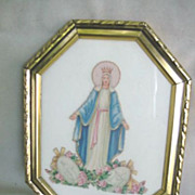 Beautiful Mary Picture in Frame * U.S. Zone Germany