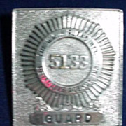 Burns Detective Agency  * Guard * Badge  / Hat Badge