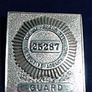 Burns Detective Agency Guard Badge / Hat Badge