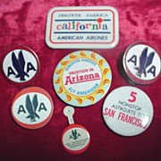 American Air Lines Vintage Advertising Buttons