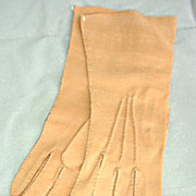 Soft  Cotton Suede Leather Gloves - New Old Stock -Beautiful