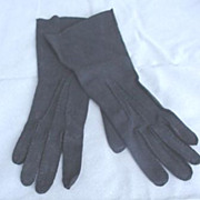 Ladies Black Cotton Gloves