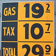 1950's Gas Station Price Sign  29.9 per Gallon