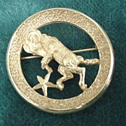 Trifari Aries the Ram Pin