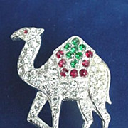 Camel Rhinestone Pin by ORA - Most Unusual