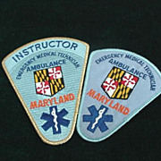 Maryland - E M T Patches