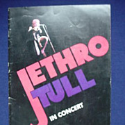 SOLD Jethro Tull Tour Program - In Concert 1973