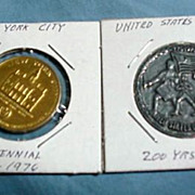 Bicentennial Tokens - NYC & U.S.A. 1976