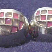 Stained Glass Design Pierced Earrings  # 1